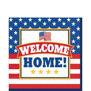 Patriotic Welcome Home Lunch Napkins 36ct