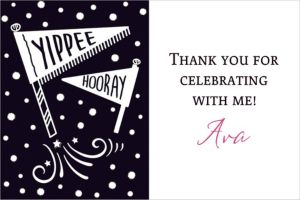 Custom Chalkboard Dots Birthday Thank You Note