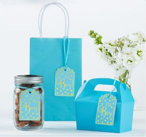 Blue It's a Boy Baby Shower Favor Tags 25ct