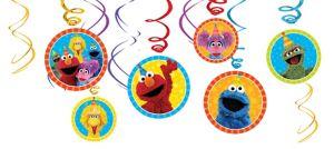 Sesame Street Swirl Decorations 12ct