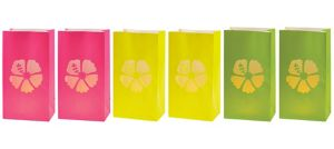 Neon Hibiscus Luminaries 6ct