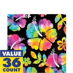 Neon Hibiscus Lunch Napkins 36ct