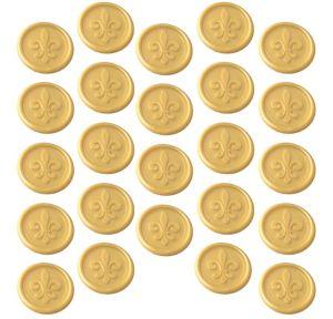 Gold Fleur-de-Lis Wax Envelope Seals 24ct