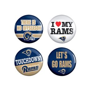 Los Angeles Rams Buttons 6ct