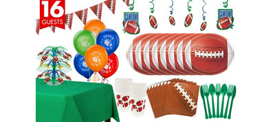 Football Deluxe Party Kit for 16 Guests