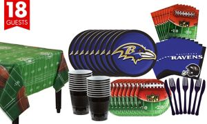 Baltimore Ravens Super Party Kit for 18 Guests