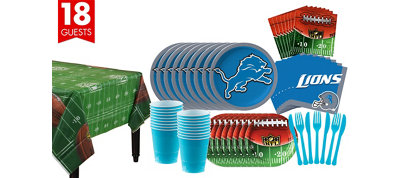 Detroit Lions Super Party Kit for 18 Guests