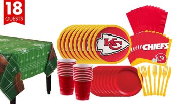 Kansas City Chiefs Super Party Kit for 18 Guests