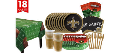 New Orleans Saints Super Party Kit for 18 Guests