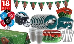 Philadelphia Eagles Deluxe Party Kit for 18 Guests