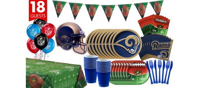 Los Angeles Rams Deluxe Party Kit for 18 Guests for 18 Guests