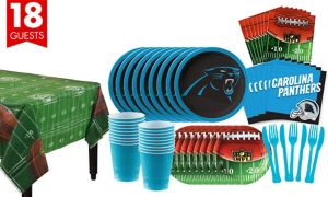 Carolina Panthers Super Party Kit for 18 Guests