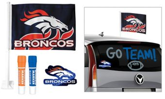 Denver Broncos Car Decorating Tailgate Kit