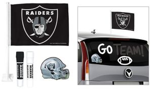 Oakland Raiders Car Decorating Tailgate Kit