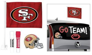 San Francisco 49ers Car Decorating Tailgate Kit