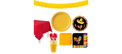 Bright Fiesta Tableware Kit for 16 Guests