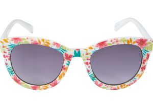 White Floral Cat Eye Sunglasses
