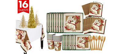 Holiday Spirit Tableware Kit for 16 Guests
