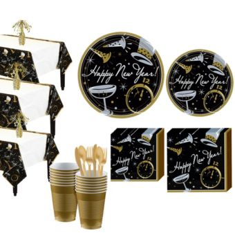 Black Tie Affair Deluxe Tableware Kit