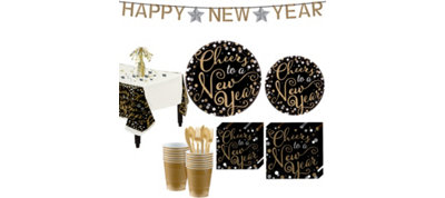 Bubbly Celebration Super Tableware Kit for 18 guests