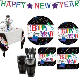 Ring in the New Year Deluxe Tableware Kit for 60 People