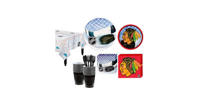 Chicago Blackhawks Basic Party Kit for 16 Guests