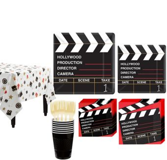 Clapboard Hollywood Tableware Kit for 16 Guests