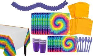 Tie Dye 60s Tableware Kit for 16 Guests