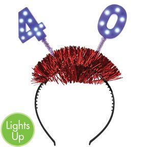 Light-Up 40th Birthday Head Bopper