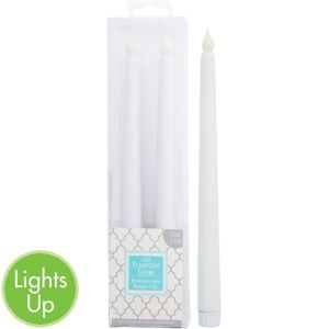 White Taper Flameless LED Candles 2ct