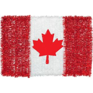 Tinsel Canadian Flag Sign