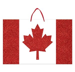 Glitter Canadian Flag Sign