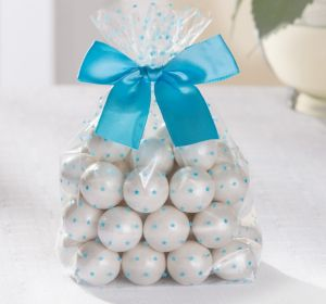 Blue Stars Treat Bags with Bows 12ct