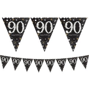 Prismatic 90th Birthday Pennant Banner - Sparkling Celebration