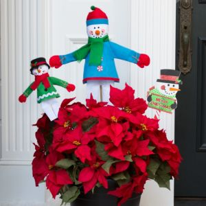 Snowman Planter Decorating Kit