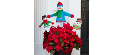 Snowman Planter Decorating Kit