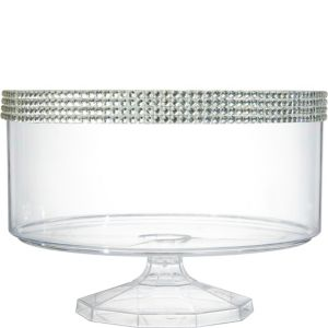 Large Rhinestone Clear Plastic Trifle Container