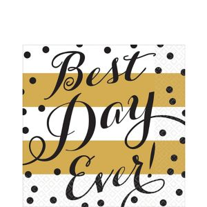Best Day Ever Wedding Lunch Napkins 16ct