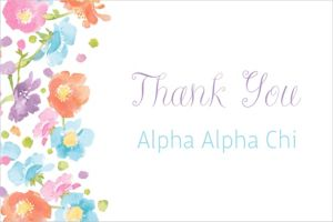Custom Spring Has Sprung Floral Thank You Note