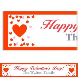 Custom Confetti Hearts Banner