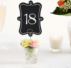 Chalkboard Table Number Cards 1-20