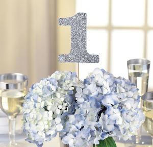 Silver Table Number Centerpiece Sticks 1-12