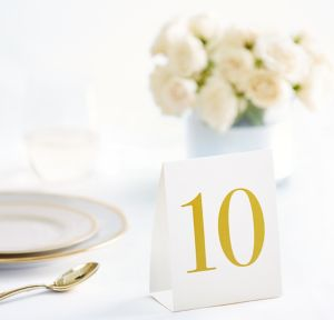 White & Cream Table Tent Cards 1-20