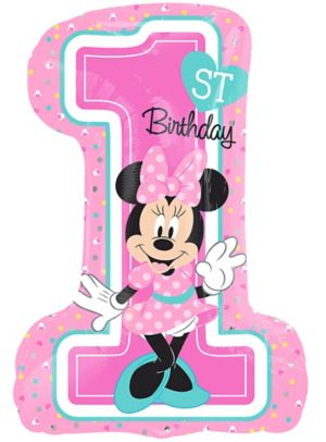 Giant 1st Birthday Minnie Mouse Balloon