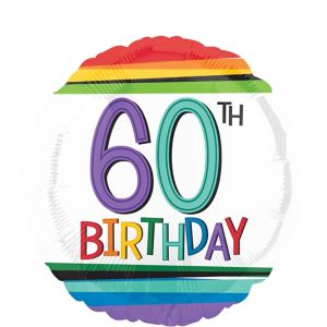 Rainbow 60th Birthday Balloon