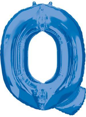 Giant Blue Letter Q Balloon