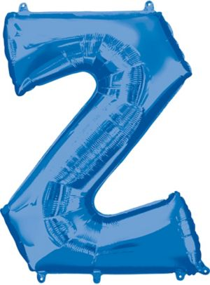 Giant Blue Letter Z Balloon