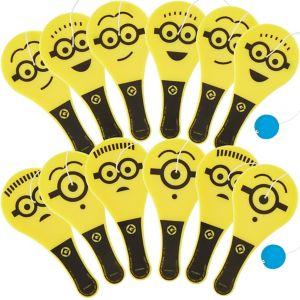 Minions Paddle Balls 12ct