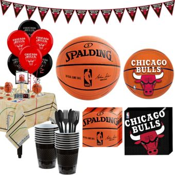 Chicago Bulls Super Party Kit 16 Guests