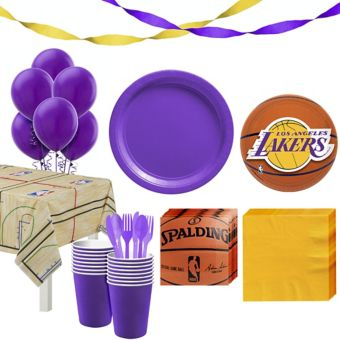 Los Angeles Lakers Super Party Kit 16 Guests
